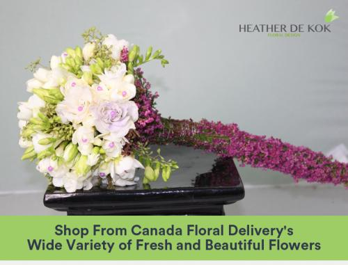Shop From Canada Floral Delivery's Wide Variety of Fresh and Beautiful Flowers