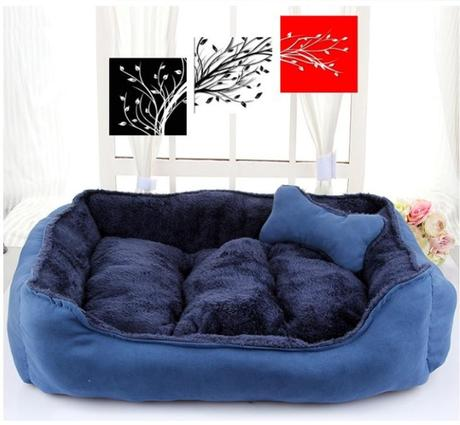 Plush Winter Cotton Dog Bed for Cat or Dog