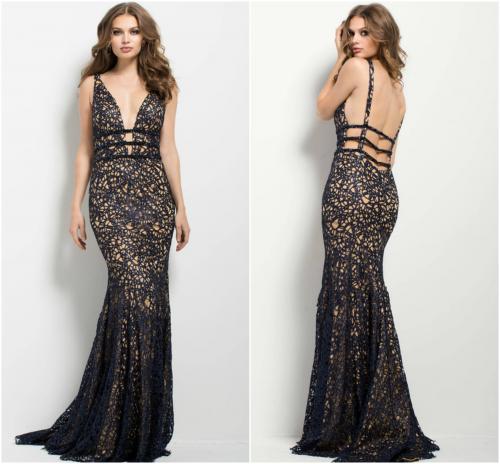 Metallic Evening Dress