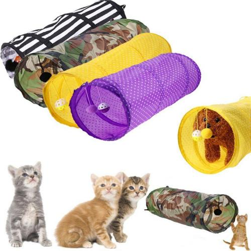 Collapsible Cat Tunnel with Bell Toy