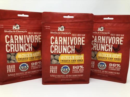 3 Pack Stella & Chewy's Chicken Carnivore Crunch - Dog Treat