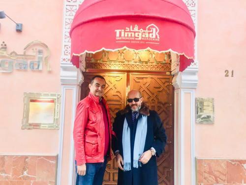 Mohamed Dekkak with Mustapha Alaoui at Timgad Restaurant in Paris, France