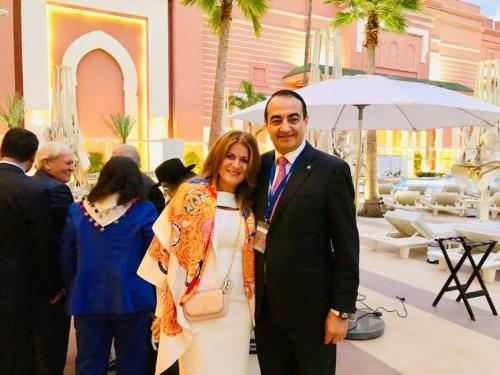 """Valérie Assouline & Mohamed Dekkak at Rencontre de Marrakech """"Judaisme Marocain- pour une marocanite en partage"""""""
