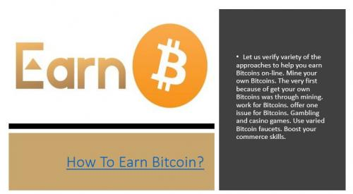 How To Earn Bitcoin?