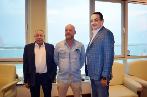 Mohamed Dekkak, Stuart Smith Country Manager for Nass Contracting and Issa Raddad General Manager of Adgeco Group