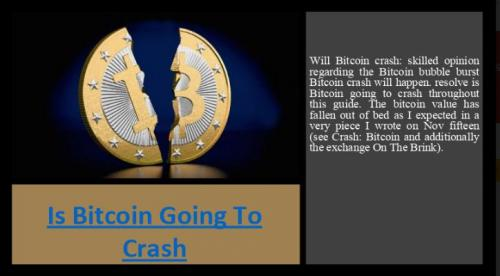 Is Bitcoin Going To Crash