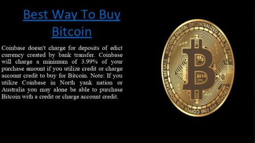 Best Way To Buy Bitcoin