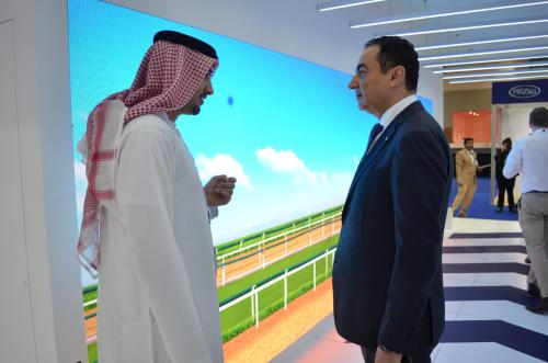 Mohamed Dekkak attended Dubai International Horse Fair (DIHF) 2019 at Dubai World Trade Center.  3