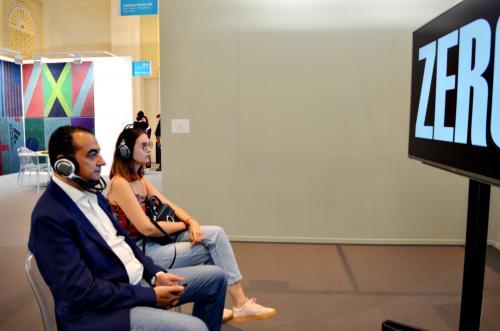 Mohamed Dekkak exploring Art Dubai 2019 at Madinat Jumeirah Dubai 11