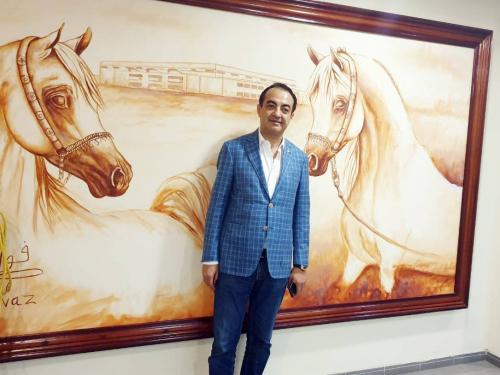 Mohamed Dekkak attends the 20th Sharjah International Arabian Horse Festival 2019