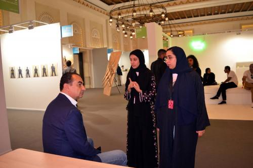 Mohamed Dekkak exploring Art Dubai 2019 at Madinat Jumeirah Dubai 15
