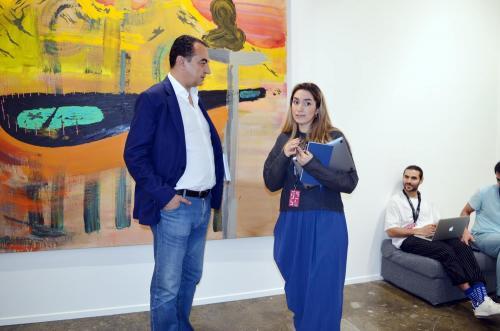 Mohamed Dekkak exploring Art Dubai 2019 at Madinat Jumeirah Dubai 6