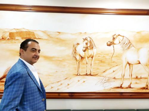 Mohamed Dekkak attends the 20th Sharjah International Arabian Horse Festival 2019 2