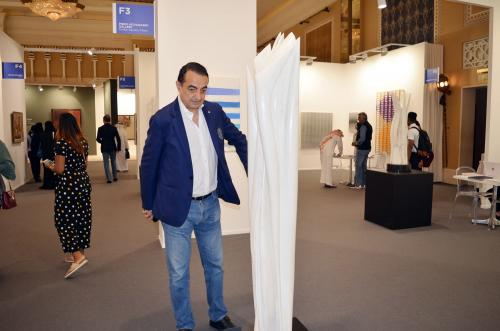 Mohamed Dekkak exploring Art Dubai 2019 at Madinat Jumeirah Dubai 14