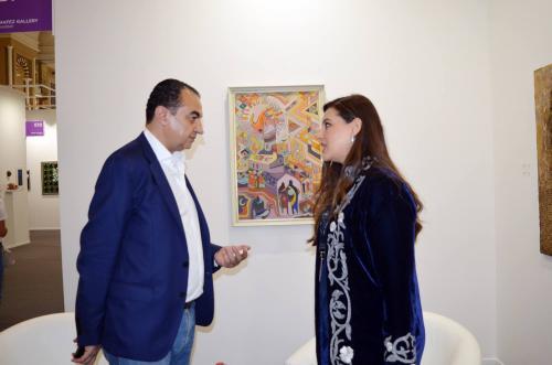 Mohamed Dekkak exploring Art Dubai 2019 at Madinat Jumeirah Dubai 3