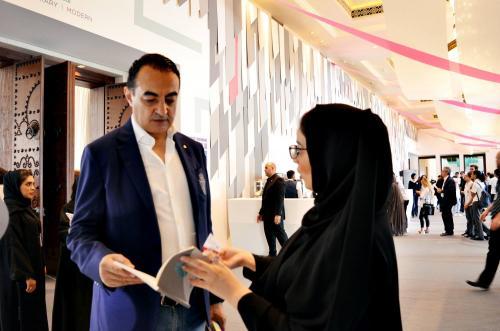 Mohamed Dekkak exploring Art Dubai 2019 at Madinat Jumeirah Dubai 2