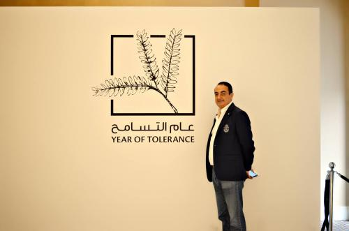 Mohamed Dekkak exploring Art Dubai 2019 at Madinat Jumeirah Dubai 9