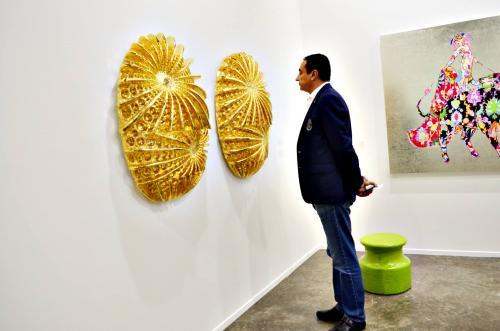 Mohamed Dekkak exploring Art Dubai 2019 at Madinat Jumeirah Dubai 5