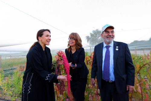 Her Excellency Mariam bint Mohammed Saeed Hareb Almheiri, the Minister of State for Food Security of the UAE, with His Excellency Dr. José Graziano da Silva, Director