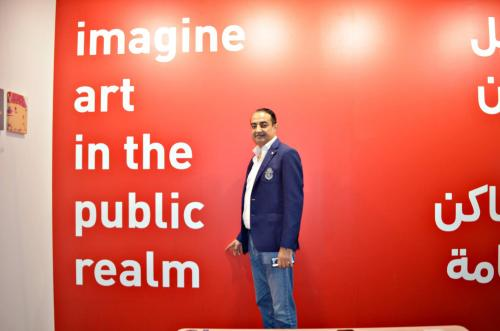 Mohamed Dekkak exploring Art Dubai 2019 at Madinat Jumeirah Dubai 12