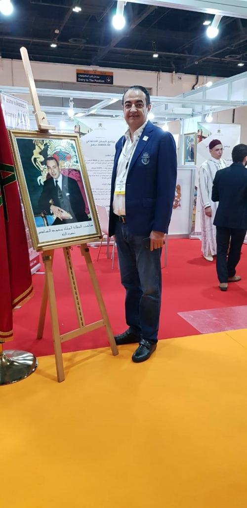Mohamed Dekkak in the Moroccan Exhibition inside the Dubai International Property Show