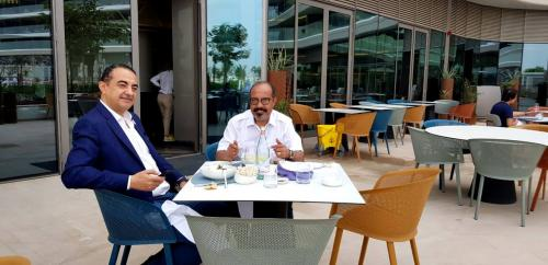 Beautiful Picture of Mohamed Dekkak and Abderrahim Khaoutem in the W Dubai The Palm