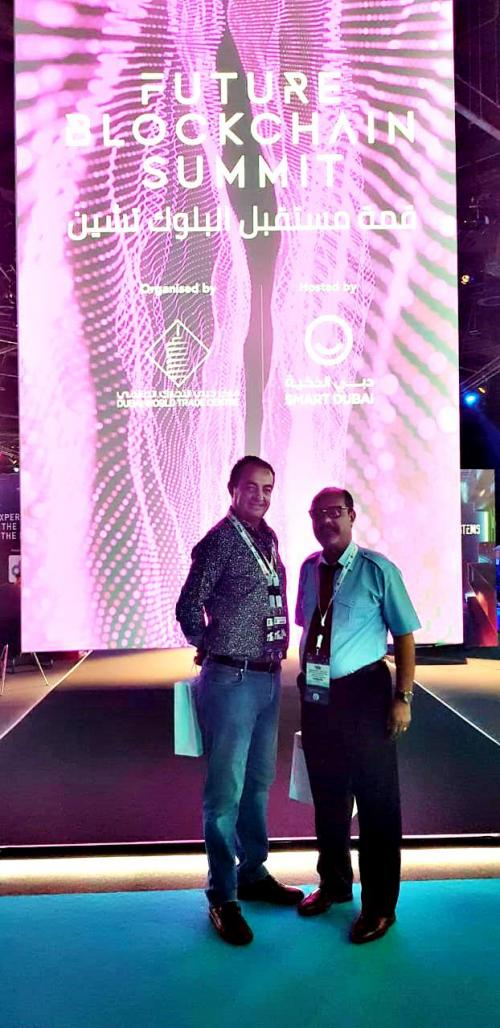 Mohamed Dekkak and Abderrahim Khaoutem participation in the Future Blockchain Summit Dubai
