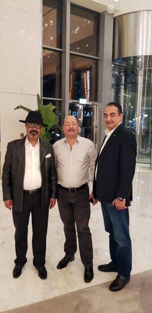 Mohamed Dekkak, Abderrahim Khaoutem, Hassan Atil and Hassan Ghazzali at DIFC