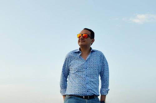Beautiful Picture of Mr. Mohamed Dekkak on a Yacht in Dubai