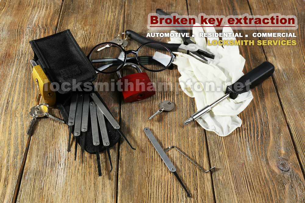 Locksmith-Hampton-Broken-key-extraction