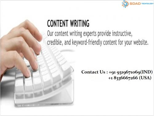 Top Content Writing Company (9319671069)  In India – SDAD Technology