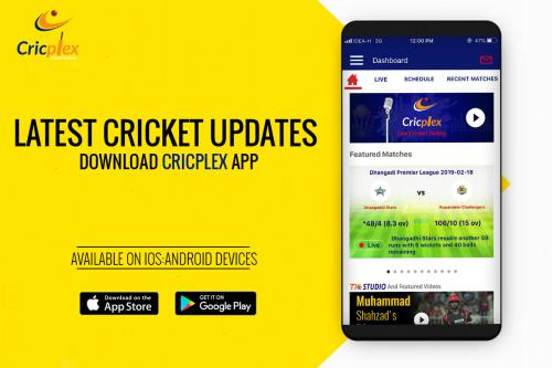 Engage in the live cricket score from Cricplex