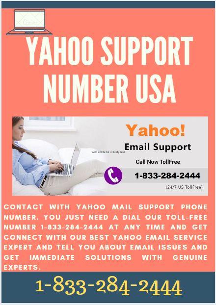 Yahoo Service Number 1833-284-2444 USA