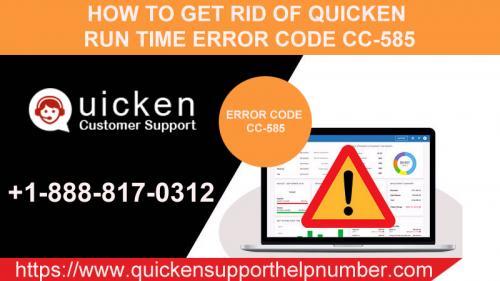 Quicken error CC-585