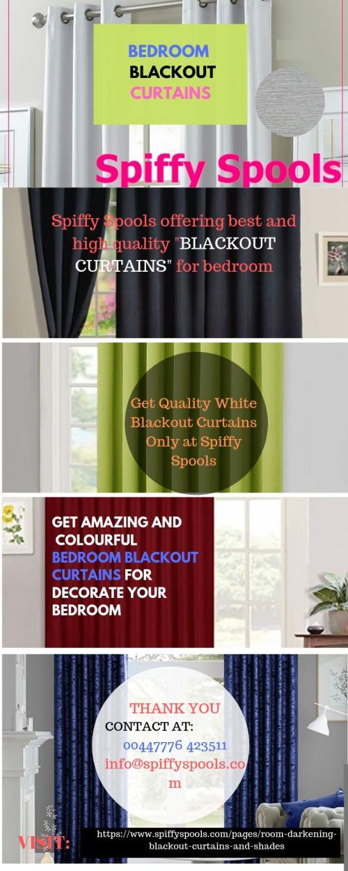 Get Amazing And Colourful Bedroom Blackout Curtains For Decorate Your Bedroom