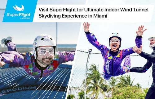 Visit SuperFlight for Ultimate Indoor Wind Tunnel Skydiving Experience in Miami
