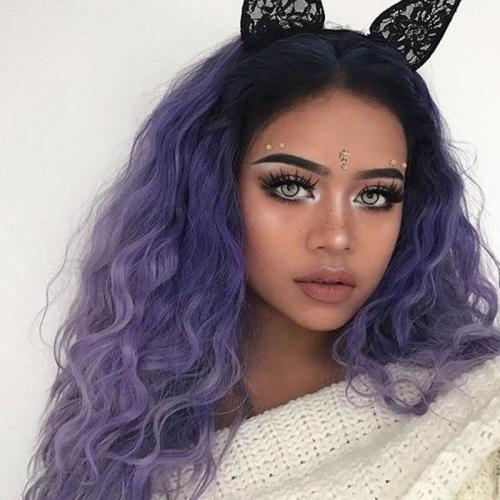 Ombre Purple Hair