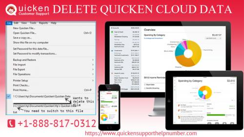 Delete quicken cloud data