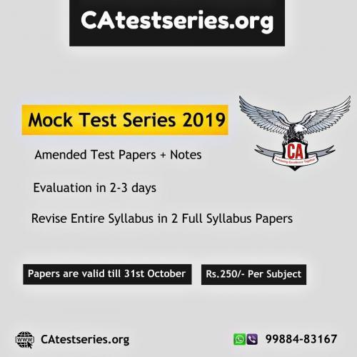 CA Mock Test Series Nov 2019