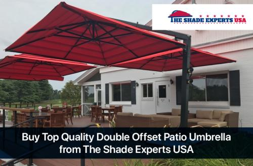 Buy Top Quality Double Offset Patio Umbrella from The Shade Experts USA