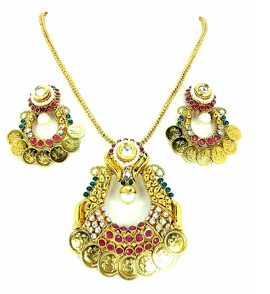 Screenshot_2019-11-15 Authentic Designer Indian Ram Leela Coin Polki Pendant Set for Women