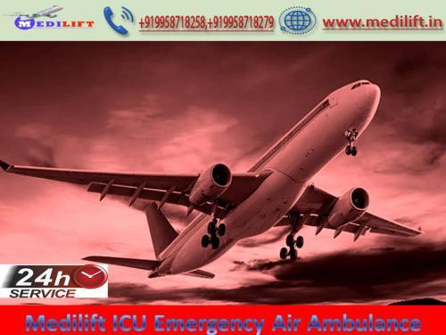 Pick Reliable Charter Air Ambulance in Kolkata by Medilift