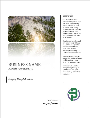 CBD products business plan