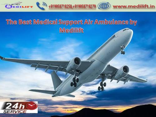 Trustworthy Charter Aircraft from Kolkata with Doctor Facility