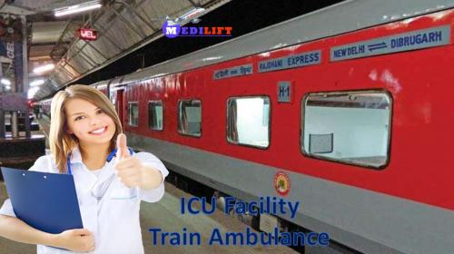 Get the Finest Train Ambulance Service from Patna to Delhi by Medilift