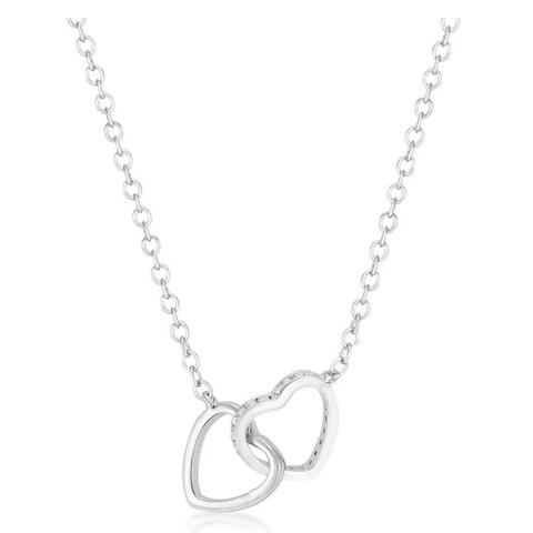 Interlocking Hearts Necklace for Women- {$16.00}