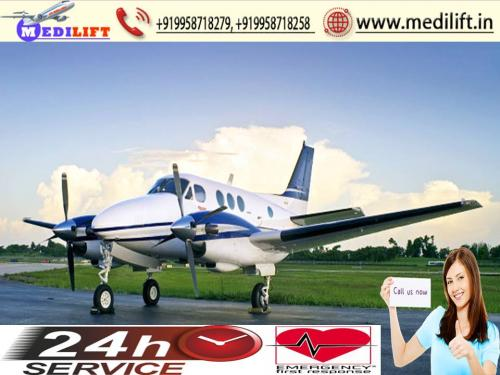 Medilift Air Ambulance Service in Patna-Hire for Fast Relocation