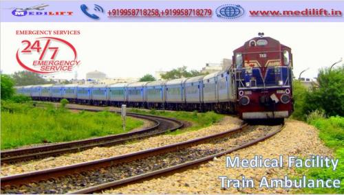 Medilift Train Ambulance from Patna to Delhi-The Best for the Patient Checkup