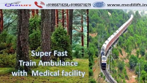 Hire Superior Train Ambulance Service in Patna with Doctor
