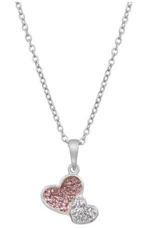 Buy Two Hearts Pave Pendant on this Valentine for your love ones at  Arras Creation Only on $22.00.